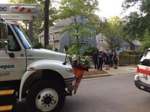 Electrocution in Chevy Chase Home