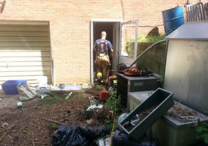 Overloaded extension cord sparks house fire